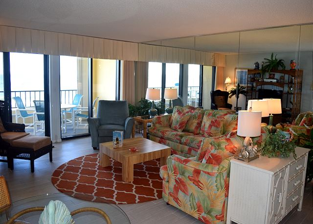 Plenty of comfortable places to sit. Guest just love all the room these condo's have @ Surf Dweller.