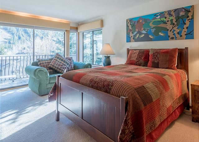 Master Bedroom With Big Windows