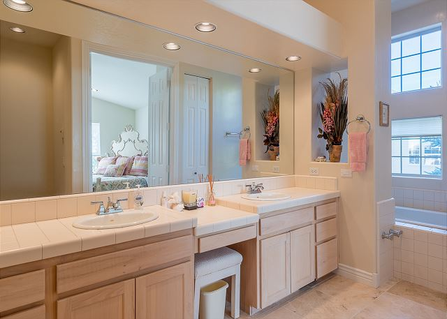 Double Vanity in Master Bathroom