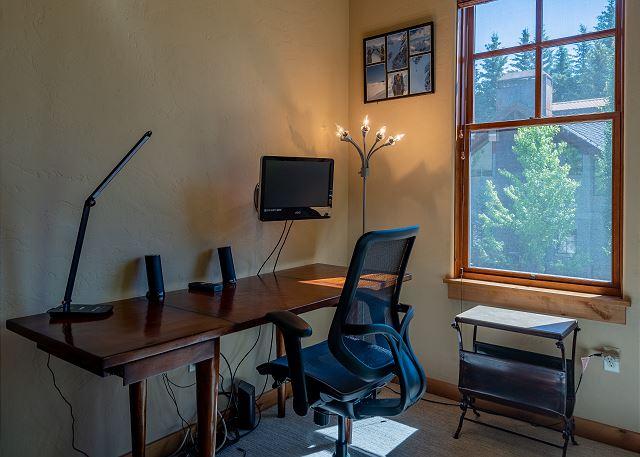 Office Area in Den
