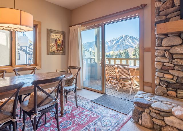 Enjoy Mountain Views From the Dining Table & Deck