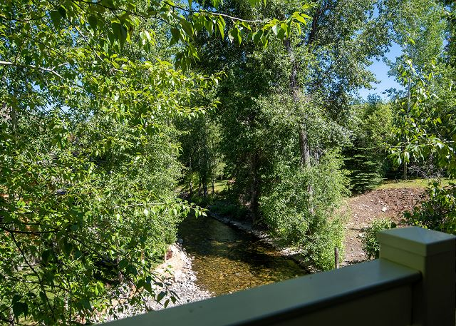Views of Trail Creek from Living Room Deck