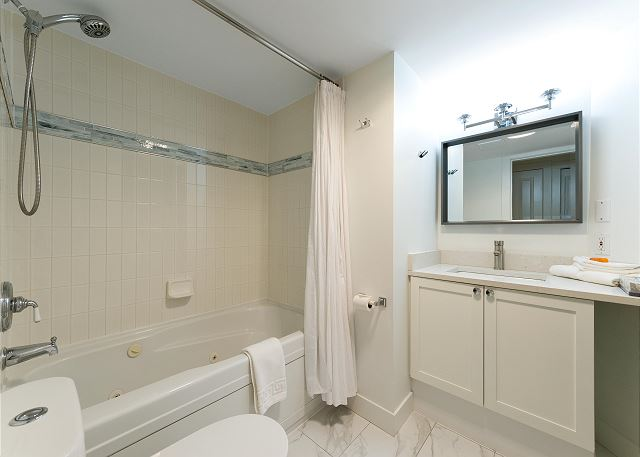Our homes all have a Jacuzzi bath tub, hair dryers, two bathrooms and two showers that are all very clean.