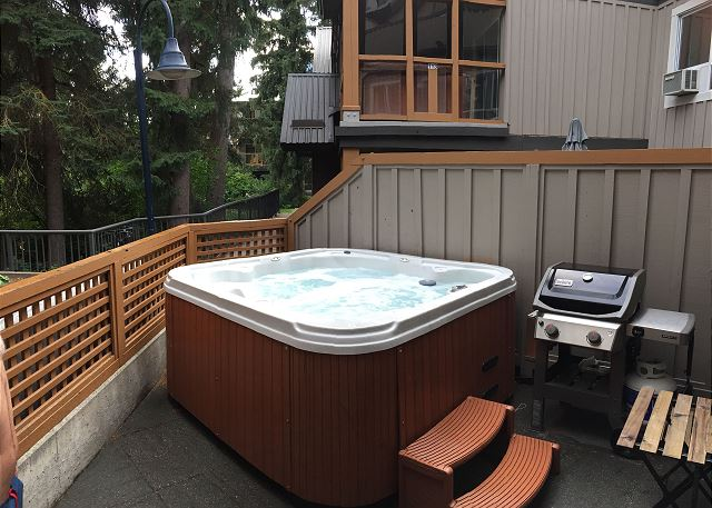 Private hot tub and BBQ