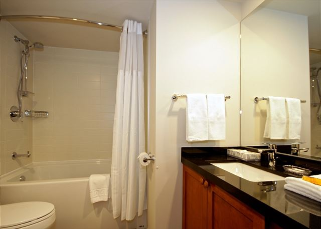 """The place was immaculate! The two full bathrooms and an in-suite washer and drier were very convenient."""