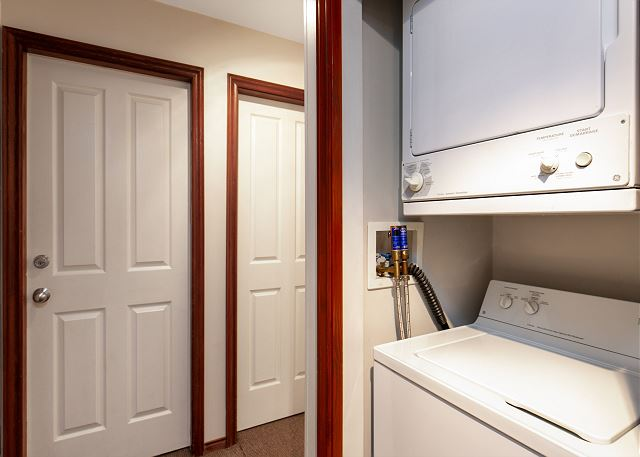 """""""The place was immaculate! The en-suite washer and dryer were very convenient.""""  The home also has a garment drying rack, iron, ironing board and garment steamer."""