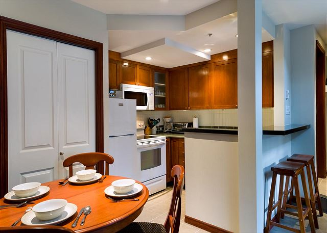"""Great unit. We really appreciated that the kitchen was so well stocked, it made dining in an easy option"""