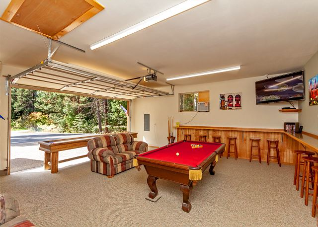 Carpeted Garage Game Room