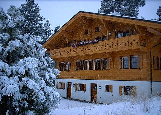 The Chalet During An Early Winter Snow Storm