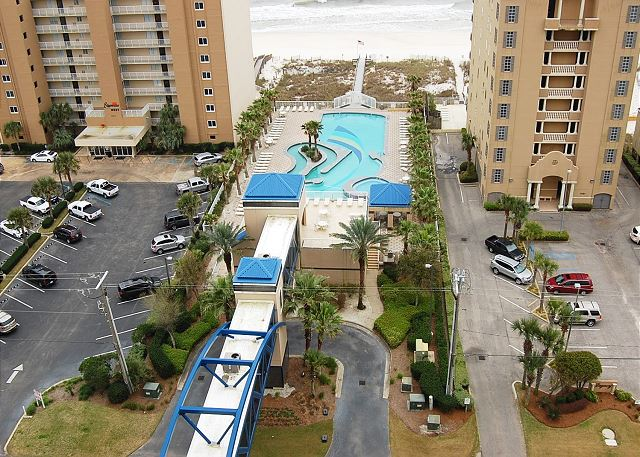 Gulfside Pool view from Balcony