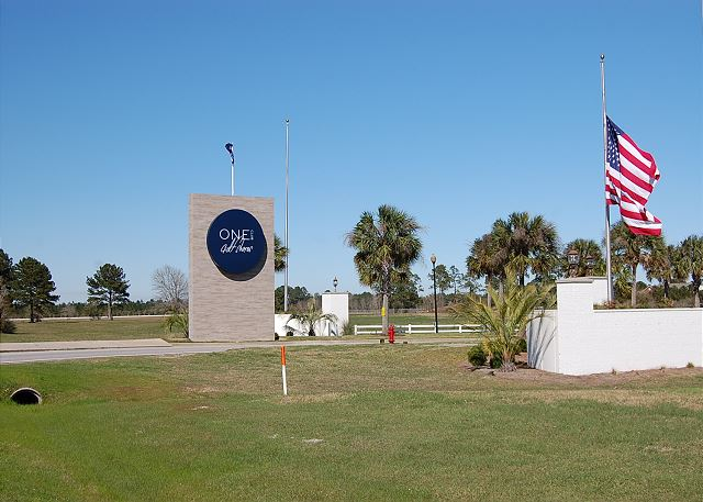 One Club of Gulf Shores Entrance from Hwy 59