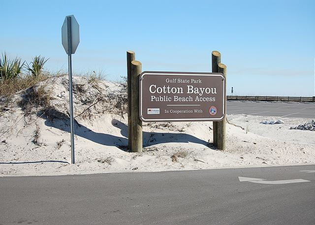 Cotton Bayou Beach Access Across Street