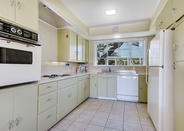 1950s inspired back house kitchen