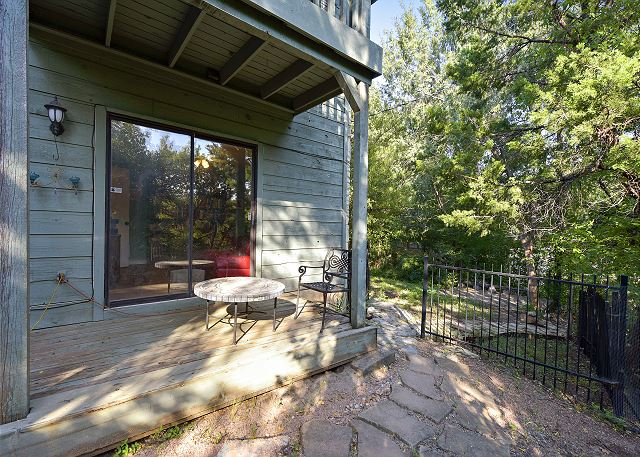 Back deck where you can enjoy the natural side of Austin!
