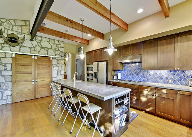 Another angle of the rustic kitchen