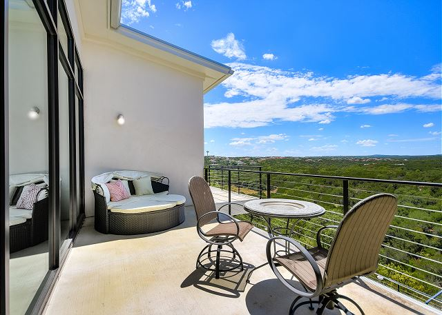 Private balcony off the master suite