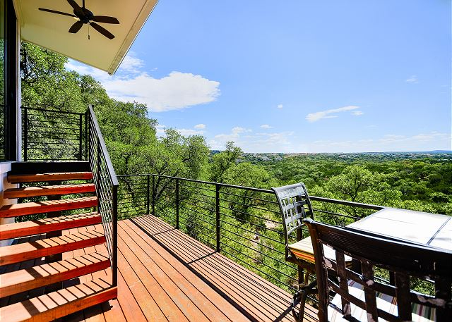 Private casita deck with a spectacular view