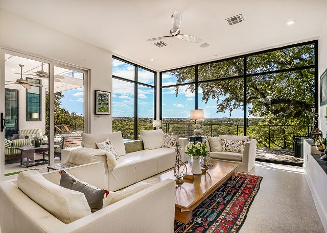 Bring the outdoors in with these expansive floor to ceiling windows
