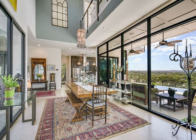 Spacious dining room and kitchen is perfect for catered events