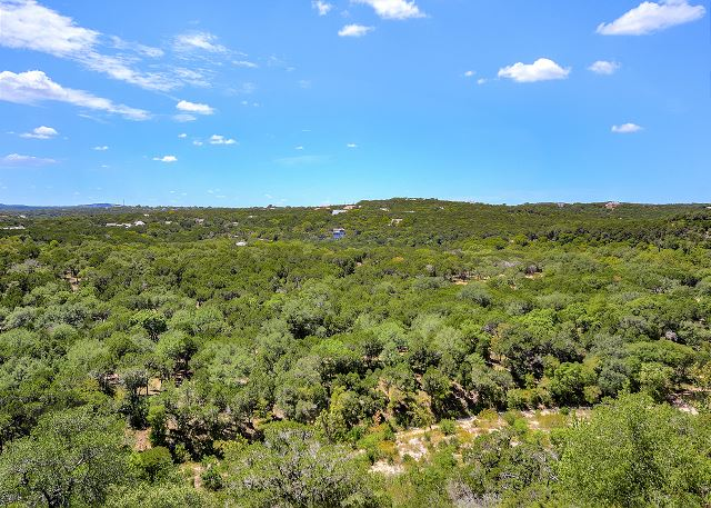 Lush, expansive hill country