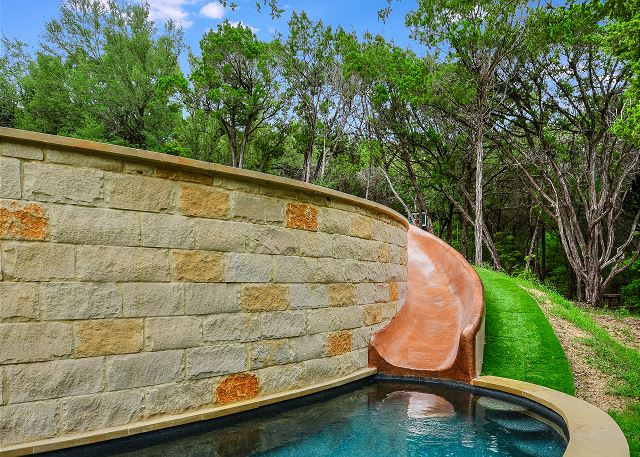 Hit the pool with this spectacular slide
