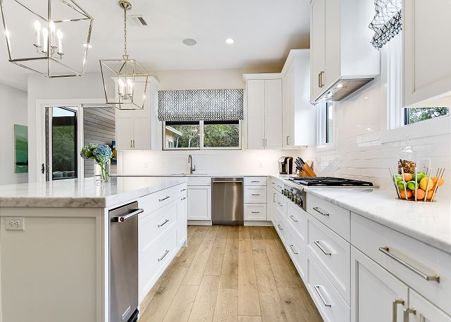 Kitchen completed with modern amenities