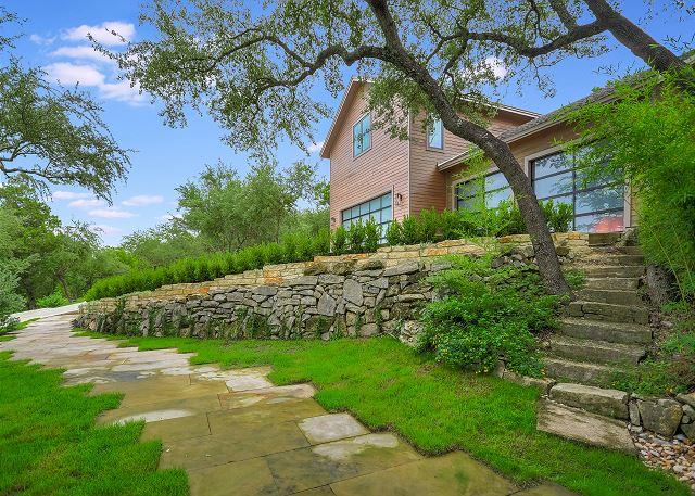 Lush greenery surrounds the Estate