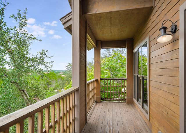 Enjoy the views and morning coffee out on the deck