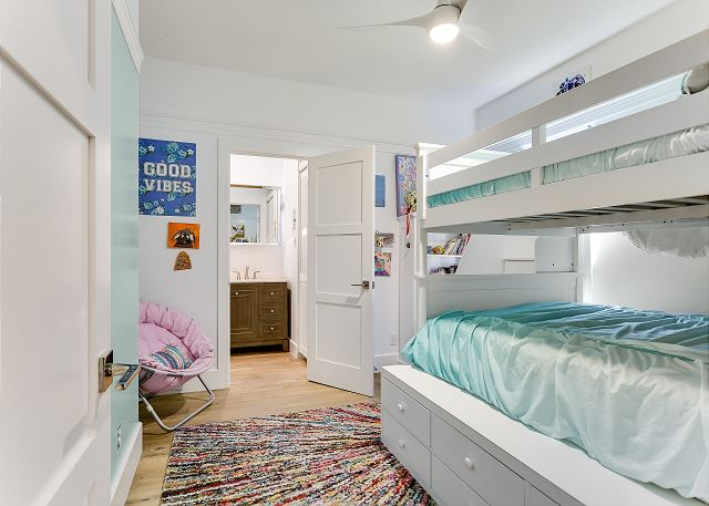 The 4th bedroom with a Queen down below and a twin up top!