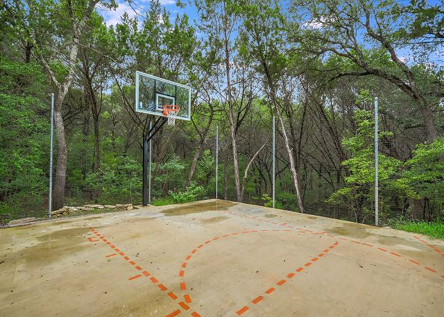 Your own private basketball court awaits you