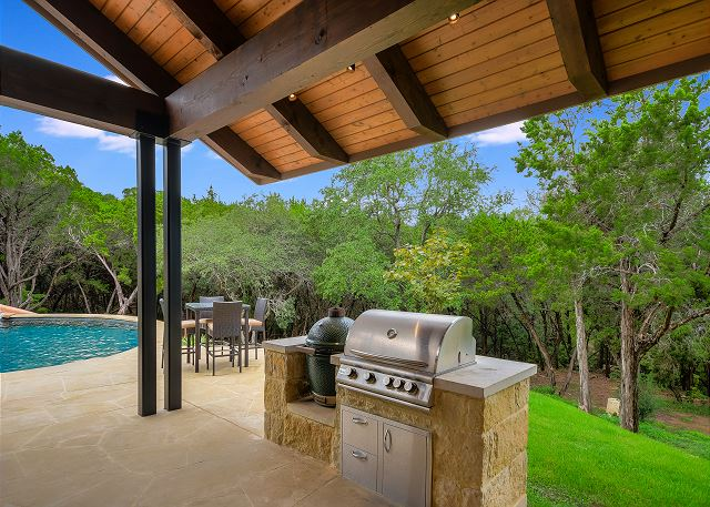 Fire up the grill and enjoy the outdoor patio