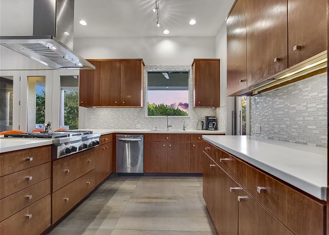 Imagine your personal chef in this spacious kitchen preparing a meal just for you.