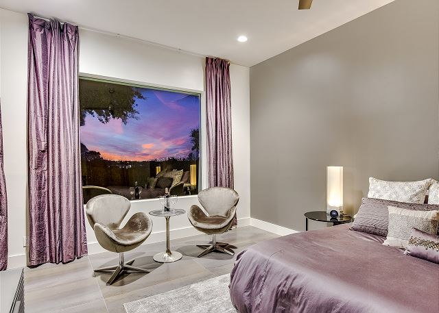 Luxurious and spacious bedrooms