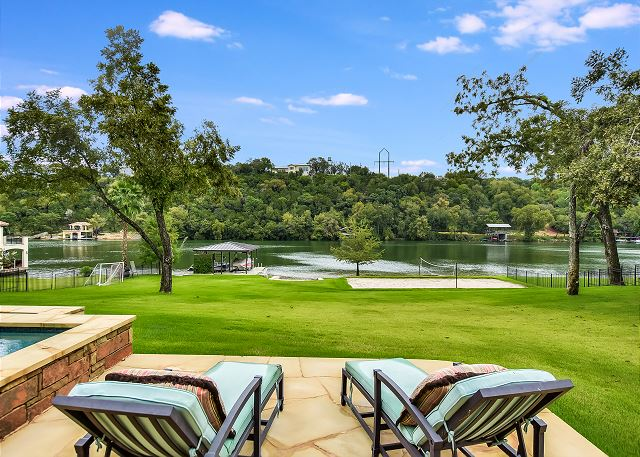 One of the best back yards in all of austin! There are endless things to do.