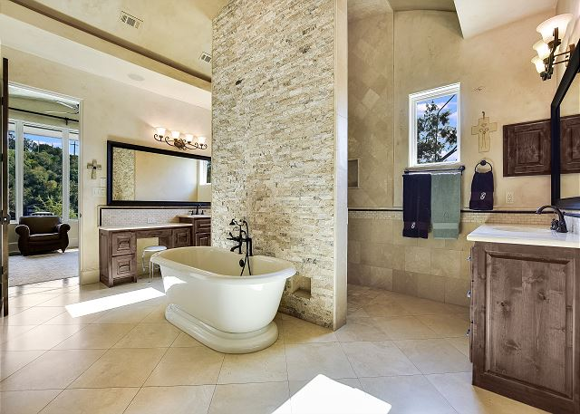 The Master bath is truly a work of art!