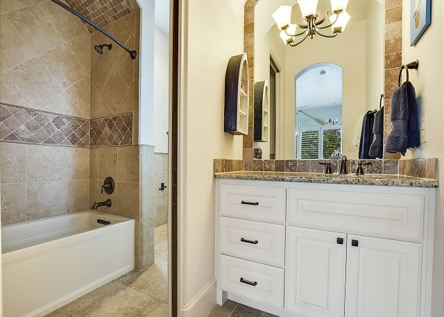 Jack & Jill Bathroom in between the two twin bedrooms
