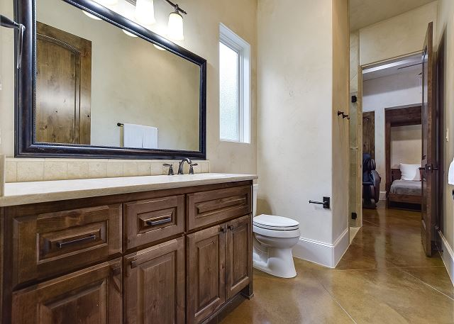 Another angle of the Casita bathroom