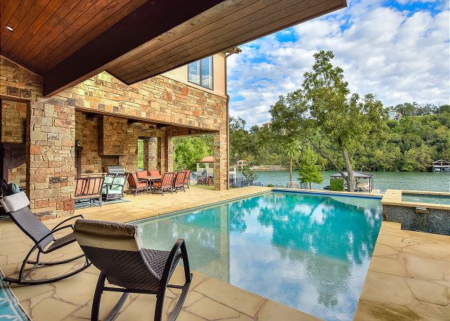 The patio and pool area - the ideal place on a summer day