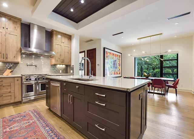 Custom cabinets and oversize oven add lots of perks.