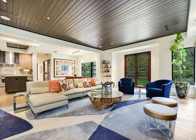 Modern delight in this spacious living room.