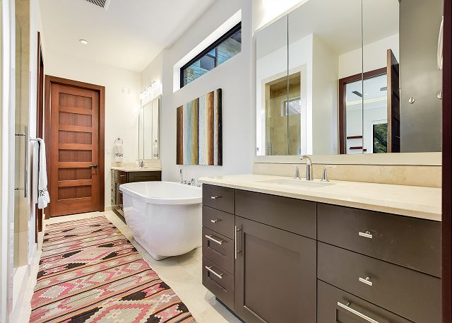 Master bath with all the whistles and bells.