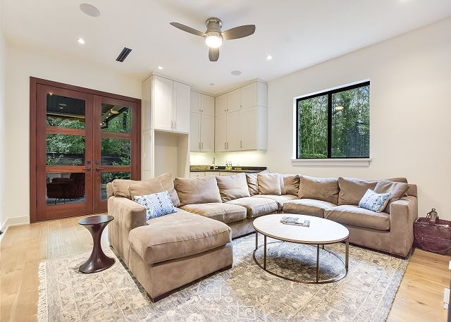 Comfy couch to just kick back and relax.