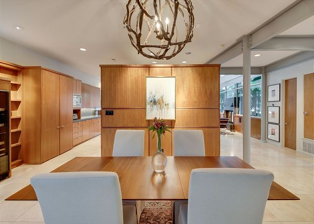 Enjoy a delicious meal in this delightful dining area