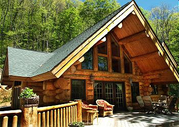 log cabin outdoor furniture