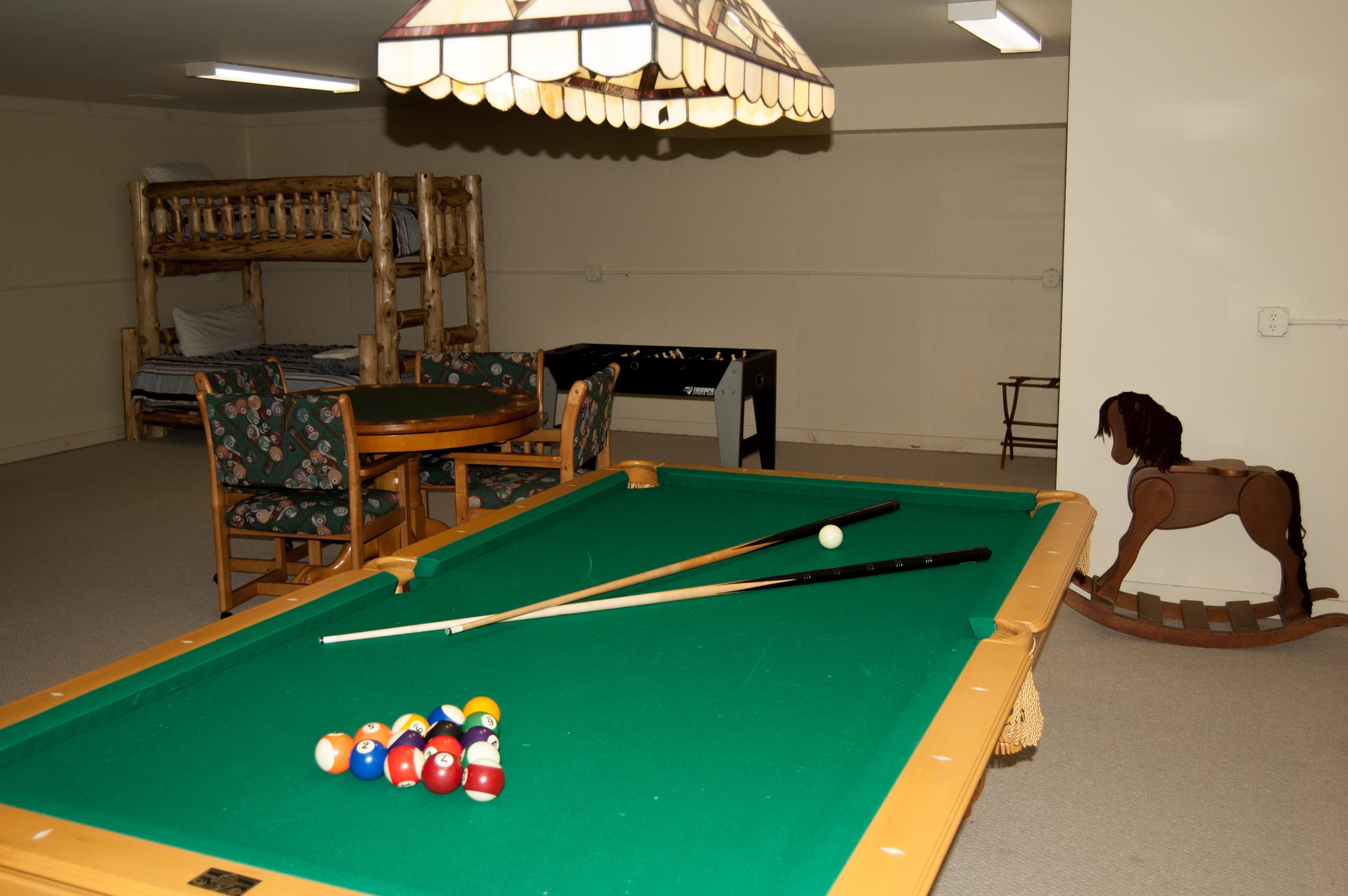 regulation size pool table