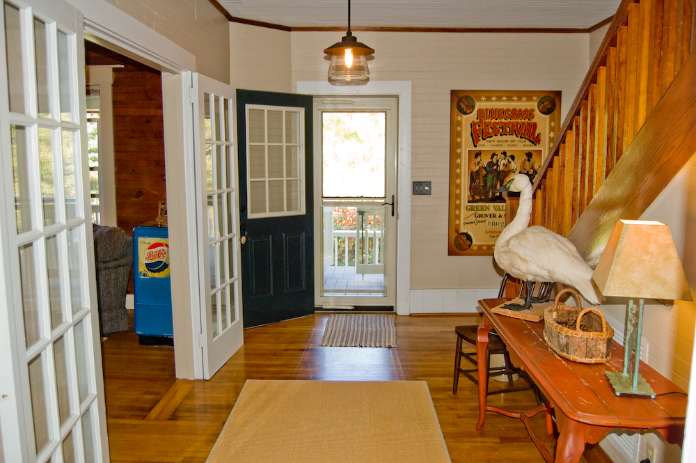 Entry Way To Rocking Chair Covered Porch