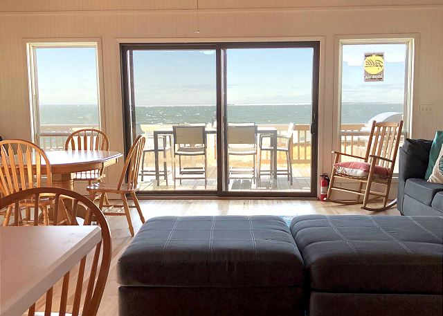 Enjoy the great bay views from this home's living space.