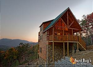 A VIEW TO REMEMBER - 204 2 Bedroom Smoky Mountain Log Cabin with Mountain Views, Hot Tub and Jacuzzi