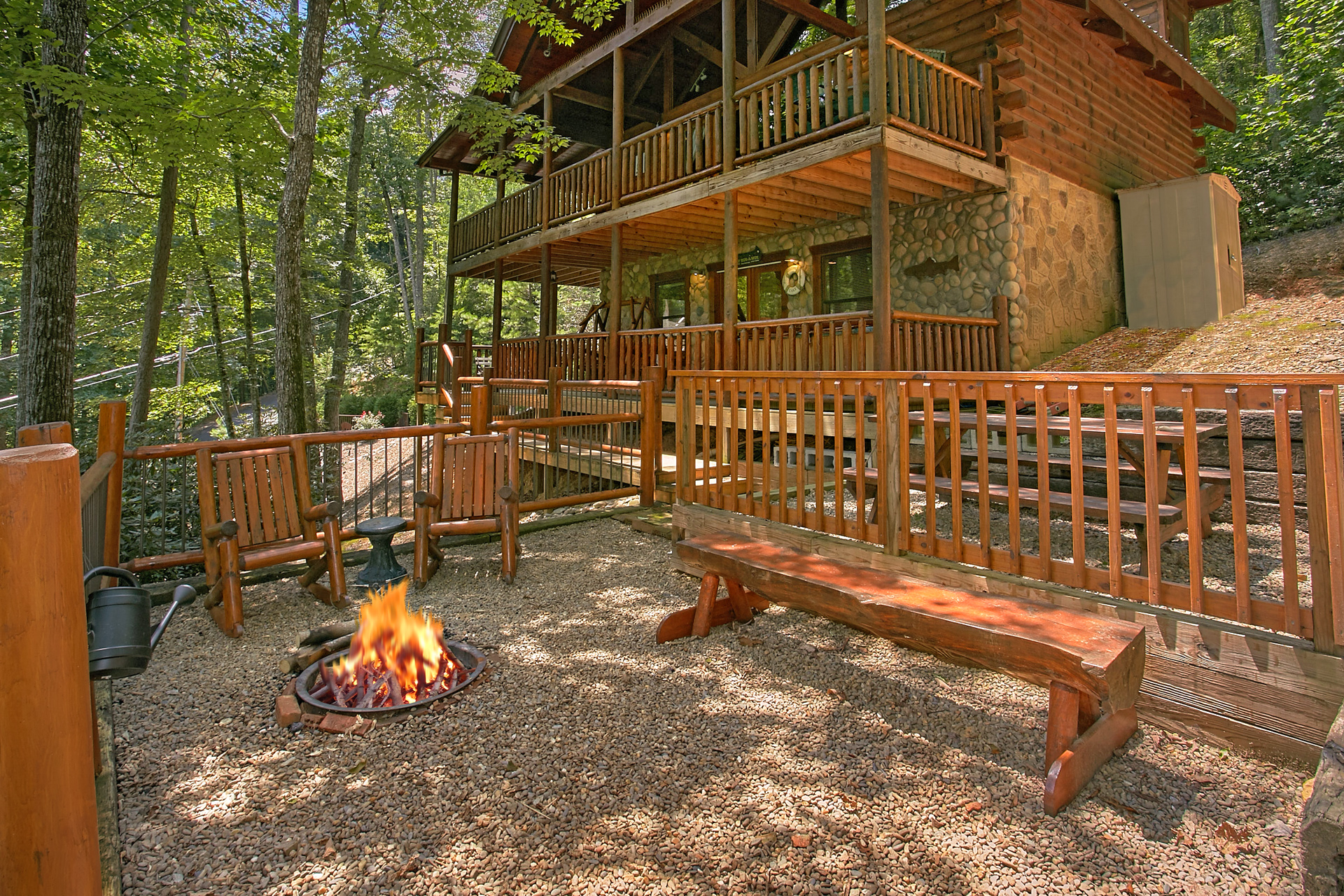Gatlinburg Cabin Rental Browns Bear Den 235 2 Bedroom