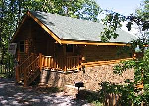 KANDY KISSES #1251 Romantic 1 Bedroom Studio Cabin Located Between Gatlinburg and Pigeon Forge